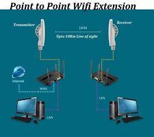 Extend WiFi Signal Coverage upto 10Km Antenna Wireless 5.8G Outdoor Bridge x2pcs