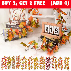 Artificial Maple Leaf Garlands Hanging Fall Leave for Indoor Outdoor Party Decor