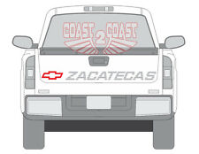 Zacatecas Chevrolet silverado 454ss type of decal 90 91 tailgate truck 90-16