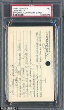 1933 Goudey #90 Jess Petty Original Copyright Patent Proof Registration PSA