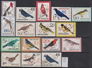 Uruguay 1962-67 Birds set of 16v. MNH** 54 Euro Scarce & Rare!