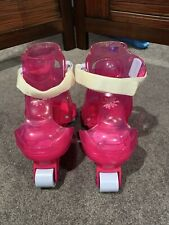 Fisher Price Barbie Inline Roller Skates Child Adjustable to Size 1-3; Max44lbs