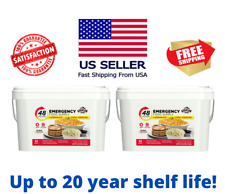 Two Emergency Food Supply 4 Person Kit 55 Serving Storage Meal Survival Bucket