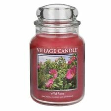 Large Village Candle Double Wick Premium 1219 Gram 26oz Jar - 60 Various Scents Wild Rose