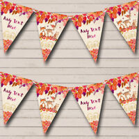 Party Banner Bunting Autumn Fall Woodland Forest Animals Fox Children's