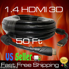 PREMIUM HDMI CABLE 50FT 1.4V 1080P BLURAY 3D TV DVD PS3 XBOX LCD LED ETHERNET HD