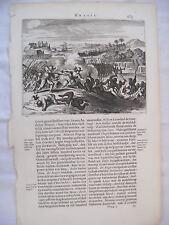 Théodore de BRY - [Petits Voyages] - Voyage au Brésil - Scène de bataille