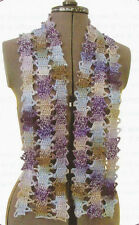 Crochet Pattern ~ Ladies Tape Lace Scarf ~ Instructions