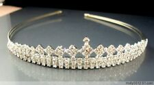Delicate Women Crystal Rhinestone Crown Hair Hoop Headband Princess Headdress