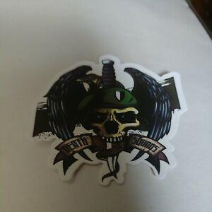 Death Squads Knife & Skull Auto Laptop Skateboard Helmet Decal Sticker