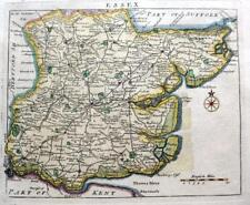 ESSEX COLCHESTER CHELMSFORD   BY JOHN ROCQUE GENUINE ANTIQUE MAP  c1769