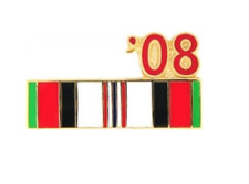 2008 Afghanistan Ribbon Pin - 14559 (7/8 inch) Licensed by HMC Honors