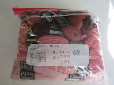 Vintage DMC Taperstry 100% Wool Rose Pinks 37pc
