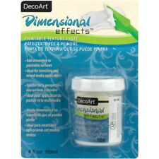Dimensional Effects White Texture Paste 4oz  Tint when wet or paint when dry.