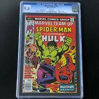 Marvel Team-Up #53 (1977) 🔥 CGC 9.6 White Pages 🔥 1st John Byrne X-Men! Comic