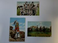 Vintage Native American Indian Postcards; Lot of 3