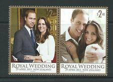 NEW ZEALAND 2011 ROYAL WEDDING PRINCE WILLIAM UNMOUNTED MINT, MNH