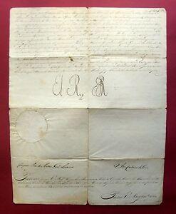 1818 RIO DE JANEIRO João VI - König  BRASILIEN u Portugal e.U. Offiizierspatent