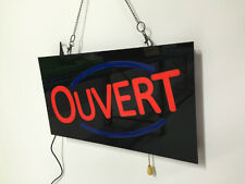 LED OUVERT SIGN (RECTANGLE)