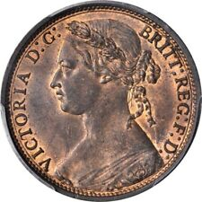 GREAT BRITAIN VICTORIA 1874-H  PENNY COIN, UNCIRCULATED, CERTIFIED PCGS MS65-RB