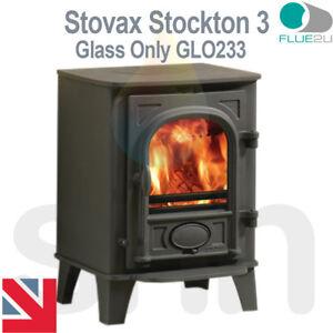 Stovax Stockton 3, Stove Glass GLO233 Direct Replacment Heat Resistant Glass