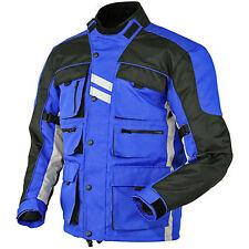 Men's Cordura Blue Armour Waterproof Motorbike Motorcycle Jacket Collection