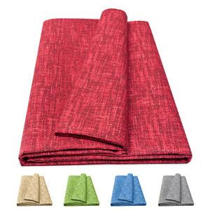 Mobilier de Tissu Couverture Tout Couleur Unie Coton Housse Course Foulard Pouf