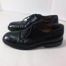 Men's Bostonian Metro Flex Shoes Leather Cap Toe Oxford Black-Italy Made-8.5 M
