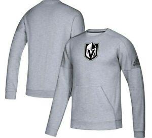 Adidas NHL Vegas Golden Knights Crewneck Stadium Long Sleeve Mens Sizes New $70