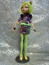Clawdeen Wolf Dawn of the Dance Doll w Outfit Dress Shoes Tights Monster High