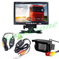 "Wireless CCD Reversing Camera + 7"" LCD Monitor Car Rear View Kitfor Bus Truck"