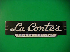 Ganja Cannabis Marijuana Pot STICKER ~ La Conte's Clone Bar & Dispensary; DENVER