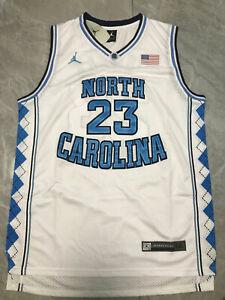 Michael Jordan 23# UNC North Carolina Tar Heels Classics Swingman Jersey White