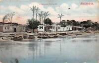 br104453 village arabe bord du nil alexandrie africa  egypt