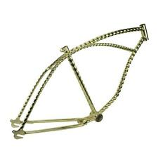 "26"" Twisted Bicycle Frame Gold Lowrider Cruiser Bikes"