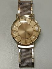 Vtg Longines 1958 Watch admiral Mystery gold filled sunburst art deco automatic