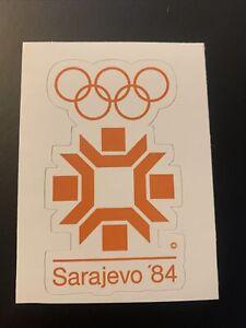 """1984 Winter Olympic Games Sarajevo Bosnia Sticker 2.1"""" x 3.7"""""""