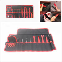 15 Pcs Car Door Panel Dashboard Audio Removal Install Pry Tool Kit w/Storage Bag