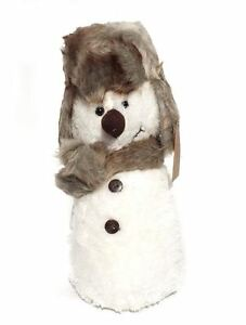 25cm Cute Novelty Christmas Xmas Soft Warm Cosy Snowman Door Stop Stopper Wedge