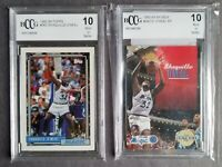 2💥Shaquille O'neal💥1992-93 Rookies Topps #362+Skybox #382 HOF BCCG 10💎PERFECT