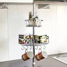 bremermann® Küchen-Teleskopregal inkl. 2 Körben und 6 Haken, 6411