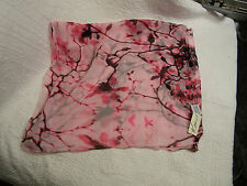 """Kim Rogers NWT Beautiful Shades of Pink Floral 100% Polyester Scarf 72"""" X 21"""""""