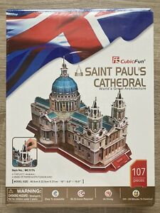 Cubic Fun St Paul's Cathedral 3D 107 Piece Jigsaw Puzzle New & Sealed