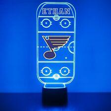 St. Louis Blues, Night Light, Personalized FREE - NHL Hockey LED Sports Fan Lamp