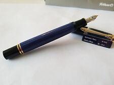 PELIKAN M600 BLACK/BLUE BRAND NEW!! 14K F-NIB 988 162