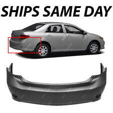 Primered Rear Bumper Cover Replacement For 2009 2010 Toyota Corolla Sedan 09 10