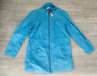 Seasalt Ladies Jacket Blue Zip Size 12 Blue Sheba Coat Long Sleeve Pockets