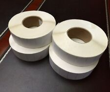 "Thermal Transfer 2""x1"" Paper Labels with removable adhesive on 3"" core - 4 rolls"