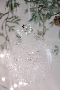 Weihnachtskugel Bauernsilber Glaskugel Adventsdeko Weihnachtsschmuck Shabby gr