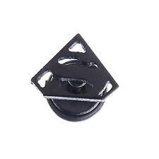 2PCS Black Silver Men's Ear Studs Superman Star Gothic Stainless Steel Earring